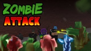 ROBLOX: ZOMBIE ATTACK-SURVIVING THE HORDAS OF ZOMBIES