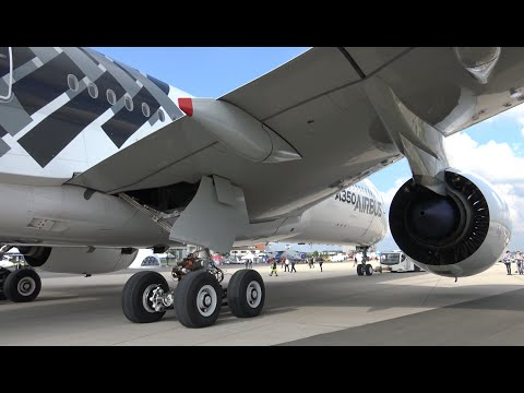 4K | Spectacular Close Up Taxiing AIRBUS A350 ILA Berlin Air Show 2016