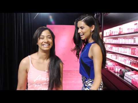 Adriana Lima Surprises Victoria's Secret Customers!