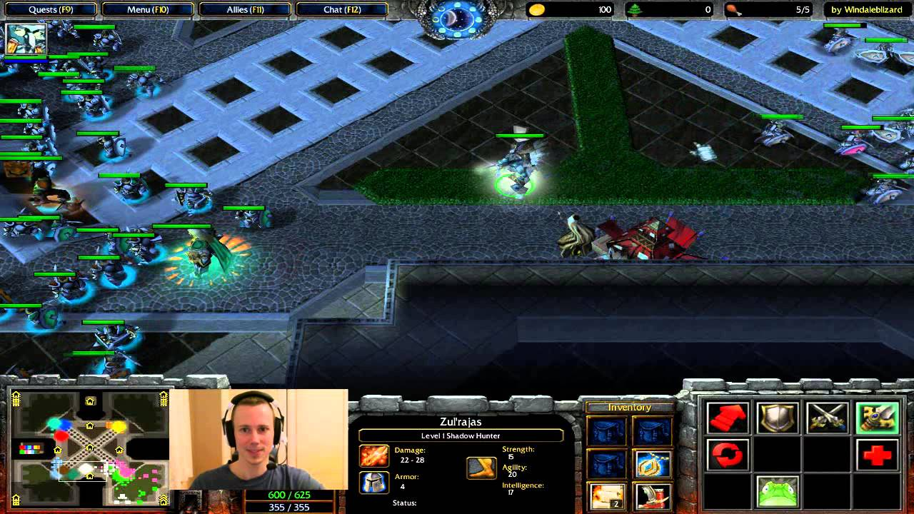 warcraft 3 footman frenzy