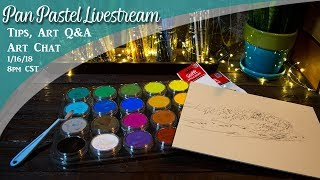 Pan Pastels Livestream & Art Chat - Lachri