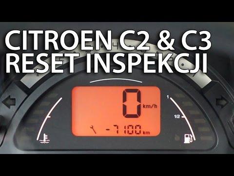 Kasowanie inspekcji serwisowej Citroen C2 & C3 (reset przeglądu)