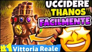 HOW TO KILL THANOS EASILY on FORTNITE ITA REAL VICTORY