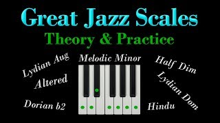 7 great Jazz scales   MELODIC MINOR MODES