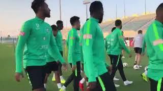 بالفيديو.. التدريب الأخير للأخضر قبل المغادرة إلى الأردن - صحيفة صدى الالكترونية