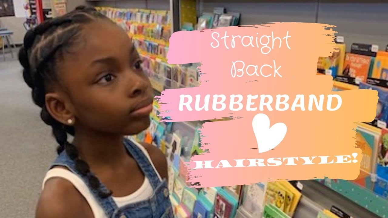 Easy Straight Back Rubber Band Hairstyle 4c Natural Hair Kids