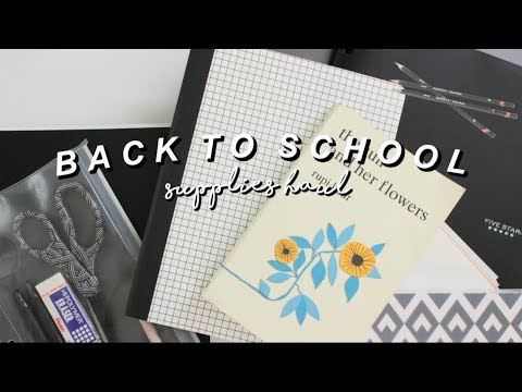 BACK TO SCHOOL SUPPLIES HAUL 2018 (8TH GRADE)