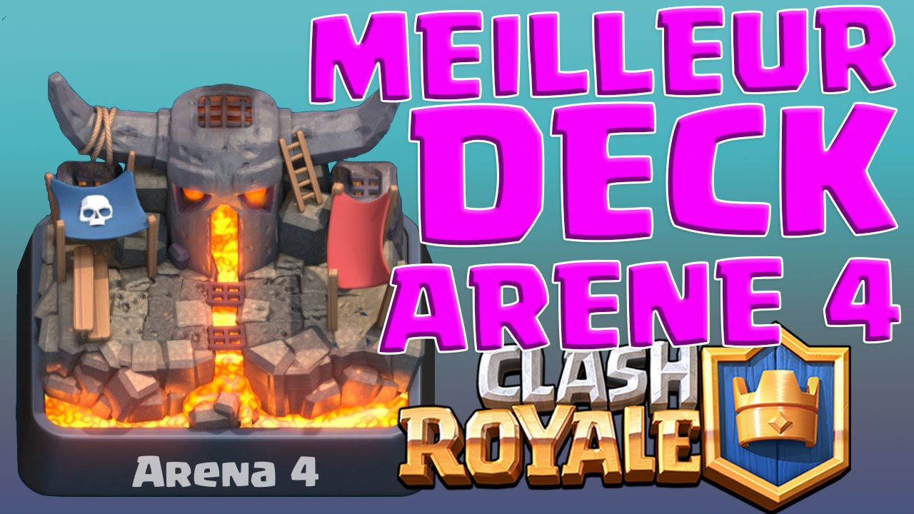 le meilleur deck pour l 39 ar ne 4 sur clash royale monter en troph s youtube. Black Bedroom Furniture Sets. Home Design Ideas