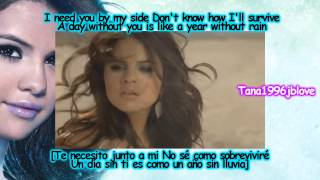 Selena Gomez - A Year Without Rain [Lyrics - Traducida Al Español][No Pitch Change] HD