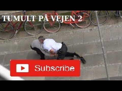 Tumult på vejen. Træls dag i det danske politi
