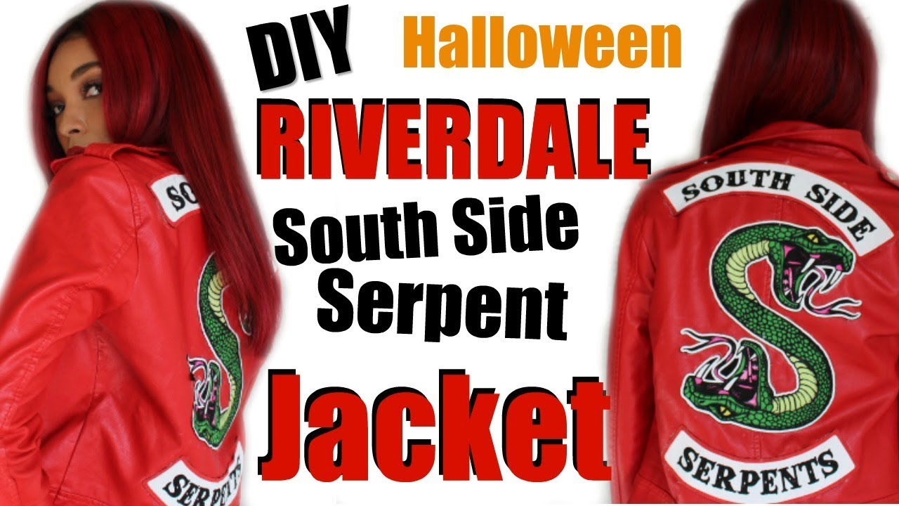 Easy Diy Riverdale South Side Serpent Jacket 2018 Halloween Costume Brittany Daniel
