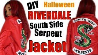 EASY DIY RIVERDALE South Side Serpent Jacket 2018 | Halloween Costume | Brittany Daniel