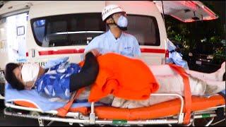 でんがんが救急車で運ばれました。