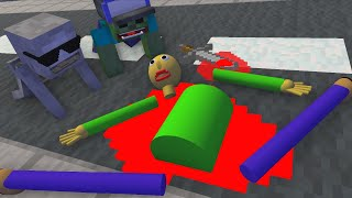 Monster School BALDI'S IS DEAD   Minecraft Animation