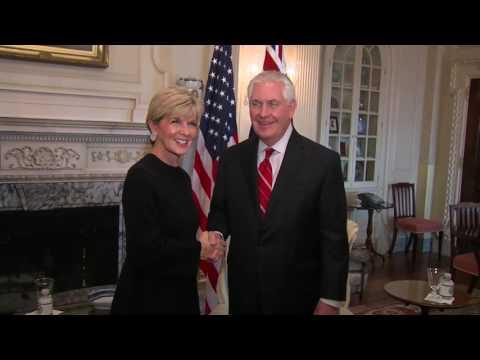 Rex Tillerson Meets Julie Bishop in Washington