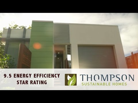 The 9.5 star rated energy efficient home by Thompson Sustainable Homes