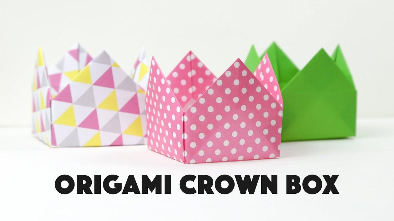 Origami Crown Box Tutorial DIY Pretty Gift