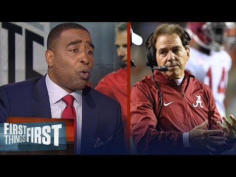 Cris Carter on Alabama's college football playoff chances, JT Barrett's injury | FIRST THINGS FIRST