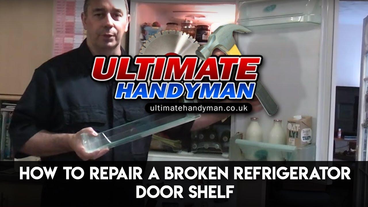 How To Repair A Broken Refrigerator Door Shelf Youtube