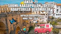 Autolla Euroopassa Road Trip Suomi kaasupullon täyttö Adapterilla ulkomailla Jakso 21