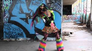 Industrial Dance -Active Paranoïd - OPIUM -  Pitite Oudy Cyber Goth dancer