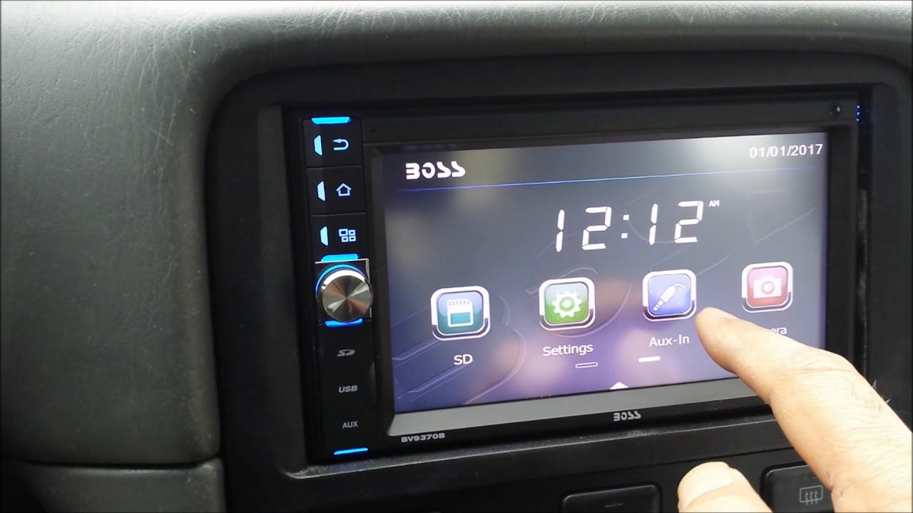 boss bv9370b double din radio install in 2000 camry [ 1280 x 720 Pixel ]