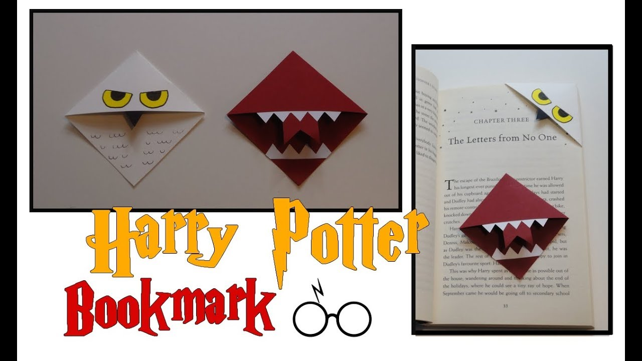 Comment Fabriquer Un Marque Page Original diy bookmark / marque-pages harry potter -- hedwig/hedwige &  howler/beuglante