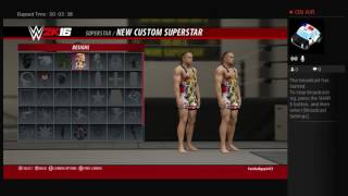 How to make rob van dam in wwe 2k16