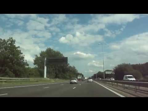 Driving from Rugby, Warwickshire to Camden, London via M45 & M1 Motorways, (sunny start, rain later)