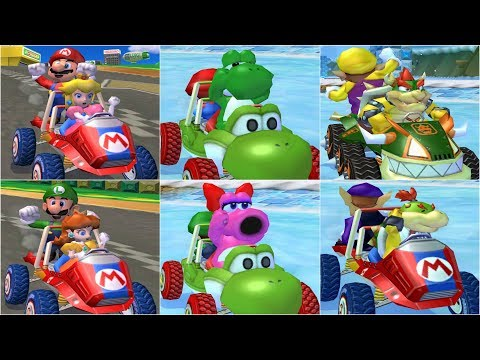 Mario Kart: Double Dash - All Characters Race Gameplay Compilation (4K60fps)