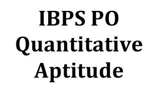 Maths/Quantitative aptitude shortcuts concepts tricks - IBPS Bank PO Clerk SSC CGL CHSL BANK exmas