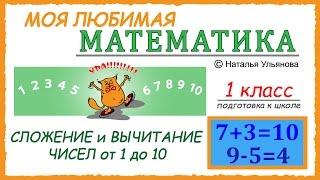 Сложение и вычитание чисел от 1 до 10. Математика 1 класс. Подготовка к школе.