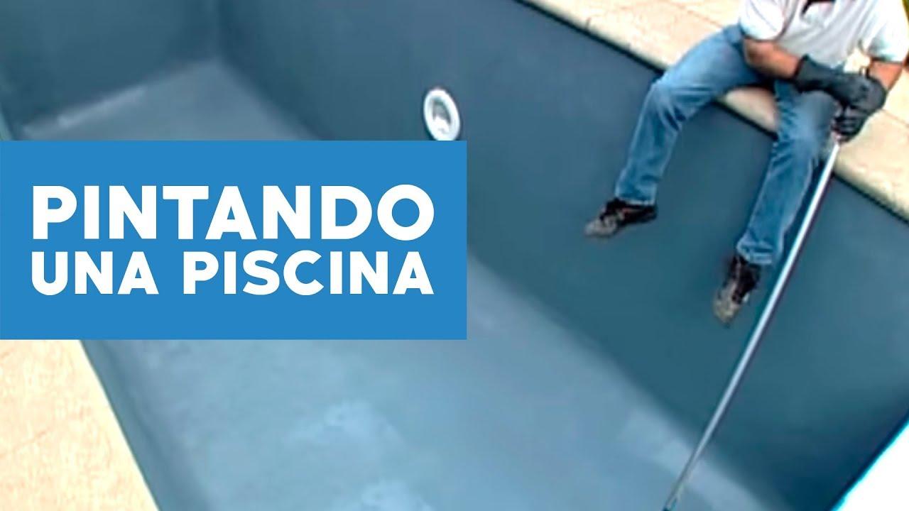 C mo reparar y pintar una piscina de concreto youtube for Como se aspira una piscina