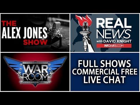 LIVE NEWS TODAY 📢 Alex Jones Show ► 12 NOON ET • Wednesday 1/17/18 ► Infowars Stream