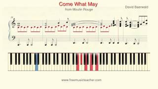 "How To Play Piano: ""Come What May"" from Moulin Rouge Piano Tutorial by Ramin Yousefi"