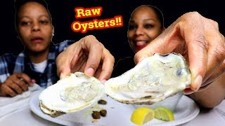 Oysters Mukbang (First Time Trying Raw Oysters)😂