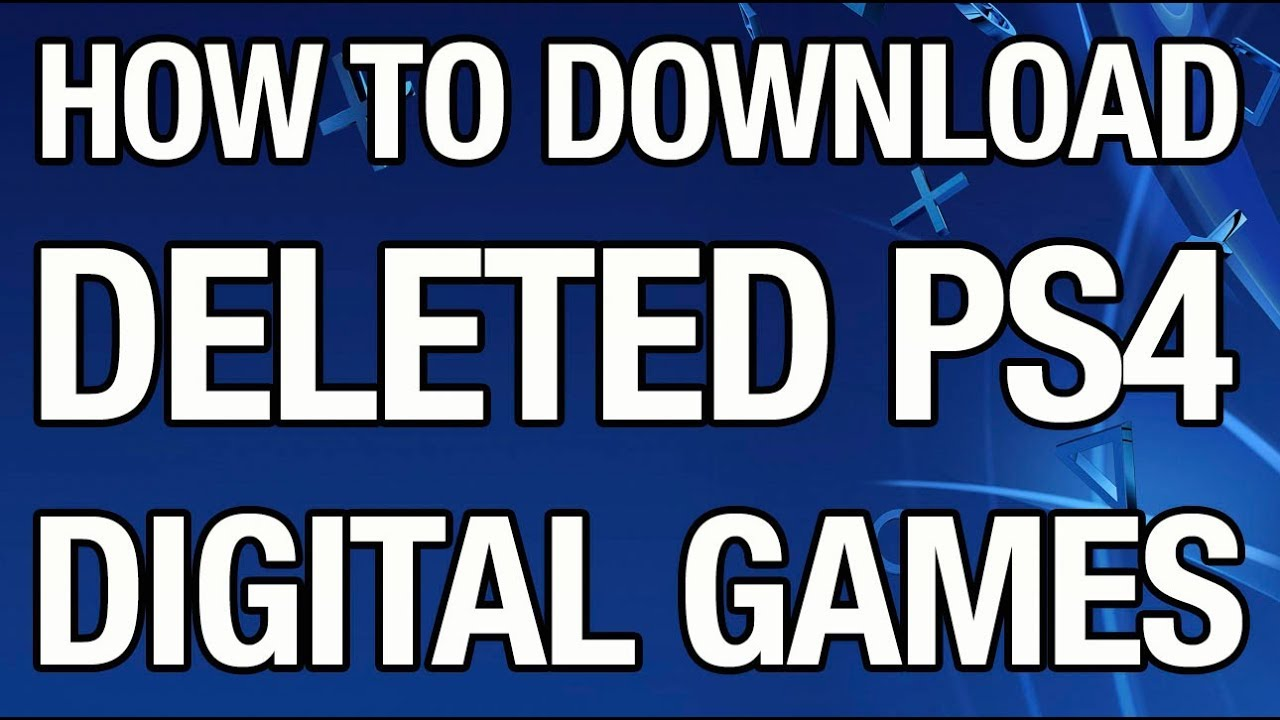How to Redownload Digital games on the PS4 (55) - YouTube