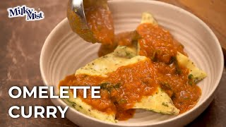 Quick And Easy Omelette Curry Recipe| Healthy Recipe| English Recipe| MilkyMist