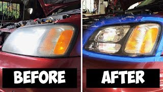 The EASIEST DIY Headlight Restoration Ever!