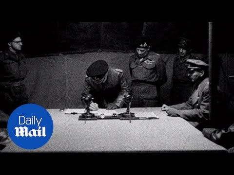 Field Marshal Montgomery accepts Nazi Germany surrender - Daily Mail