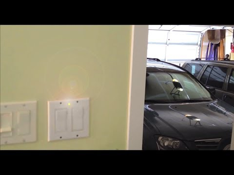 How to make a Open Garage Door Warning Light - anti-theft alarm
