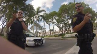 bad cops tell me not to record its illegal good officer stands up for my rights Plantation police
