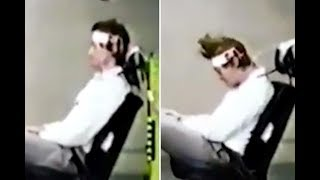 Disturbing video shows how REAL people were used as car crash test dummies in 1970s Germany