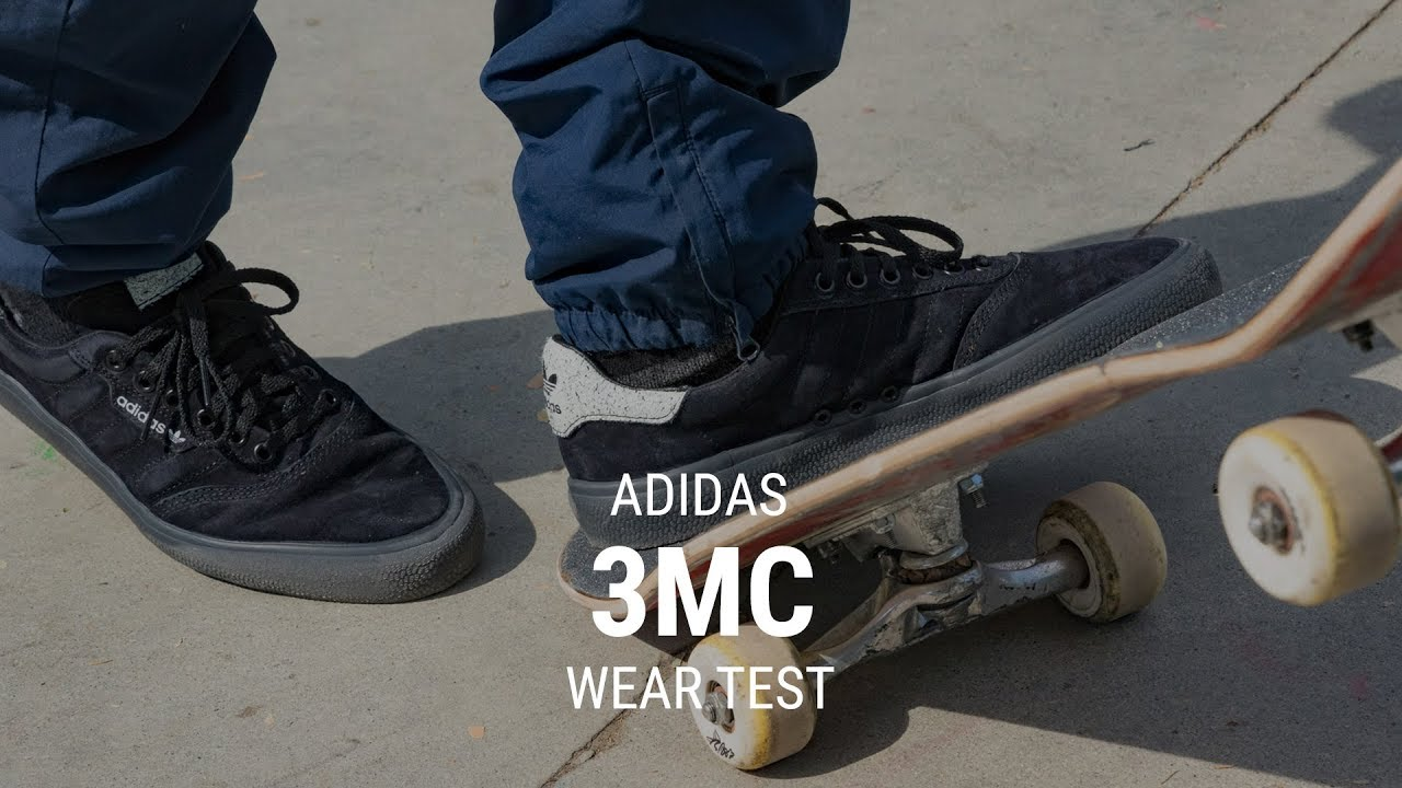 a72b35015a89cb Adidas 3MC Skate Shoe Wear Test Review - Tactics.com - YouTube