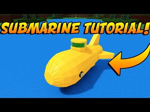 Micro-Block Submarine Tutorial in Build a Boat for Treasure!