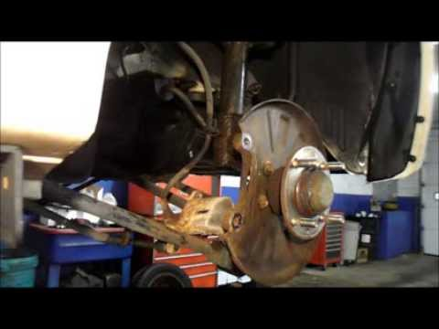 How To Replace Rear Brakes And Rotors On a 2004 Kia,Spectra - YouTube