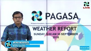 Public Weather Forecast Issued at 5 AM, September 30, 2018