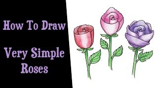 TUTORIAL: How to Draw Very Simple Roses