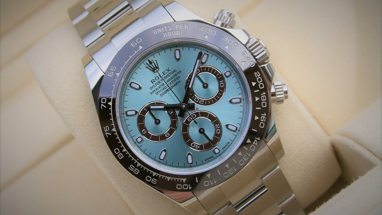 9193c94a4d5 The beauty of Rolex Cosmograph Daytona 116506 Ice Blue Dial 40 mm platinum  swiss made luxury watch