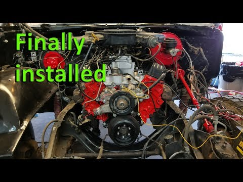 Ramcharger 318 Engine Rebuild Series 6: Painting and Installing the New Engine